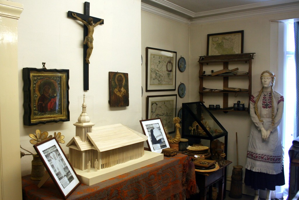 Part of museum room and future Chapel model